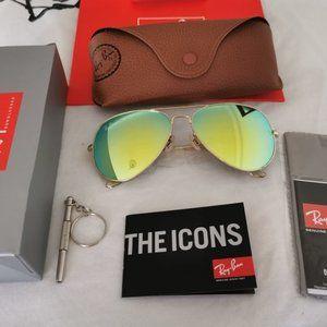 New Ray-Ban 3026 62mm Green Sunglasses